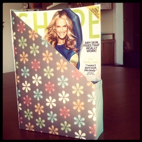 Cereal Box Covered With Paper To Make A Magazine Holder I Love Cheap Ideas