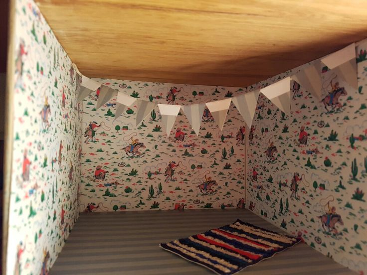 Very pleased with my paper bunting in the child's room