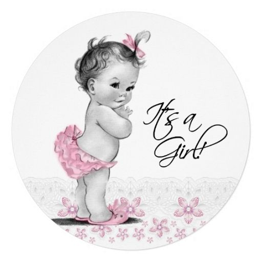 1512 best images about vintage baby shower party favors on pinterest, Baby shower invitations