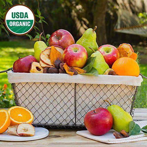 Simply Organic Fruit Basket - The Fruit Company - http://mygourmetgifts.com/simply-organic-fruit-basket-the-fruit-company/
