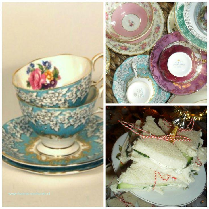 Huur een Brocante theeservies en organiseer een high tea met eigen hapjes!