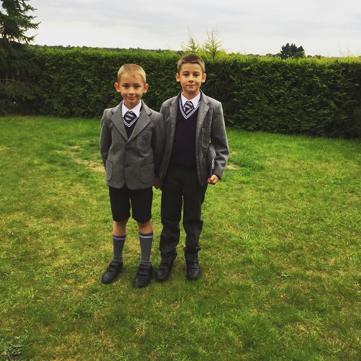Boys first day back at school year 2 and year 4 now. Only day shoes will look clean and uniform will look nice!