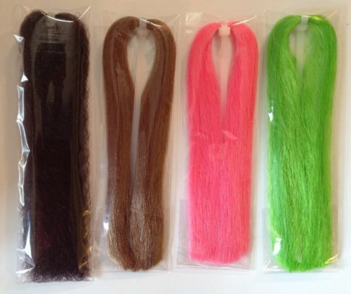 LOT NEW EP/Congo-like Synthetic Wave Fly Tying and Jig Hair fiber 4pks  (grp11)