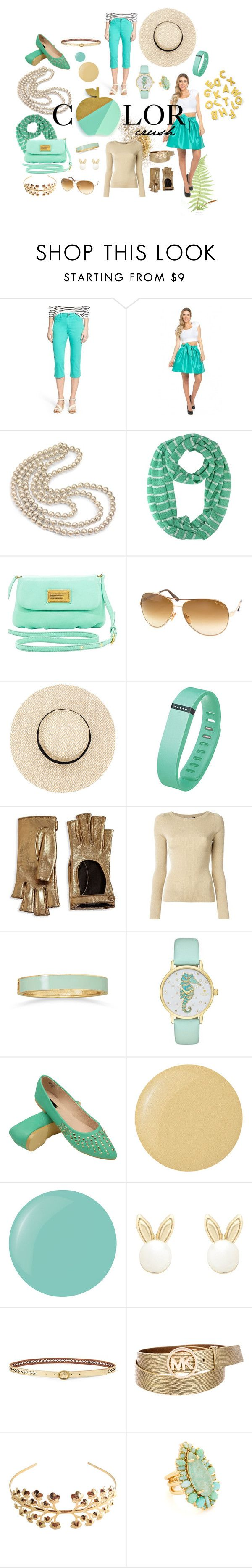 """Color crush - mint & gold"" by iwona-estera on Polyvore featuring NYDJ, Sweet Romance, Marc by Marc Jacobs, Tom Ford, Fitbit, Gucci, Dolce&Gabbana, BillyTheTree, Kate Spade and Butter London"