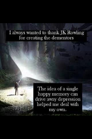 "There are many reasons for my obsession with Harry Potter :) ""Happiness can be found even in the darkest of times, if one only remembers to turn on the light"""