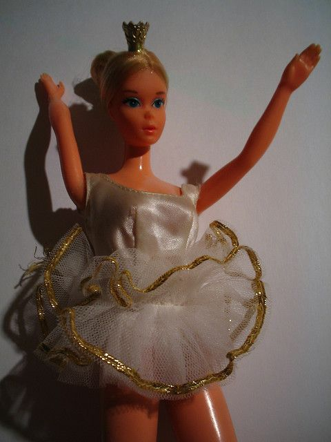 Ballerina Barbie-Mid 1970's version    This takes me back.  This was my very first Barbie.  Unfortunately, her feet didn't survive my little sisters teething stage.