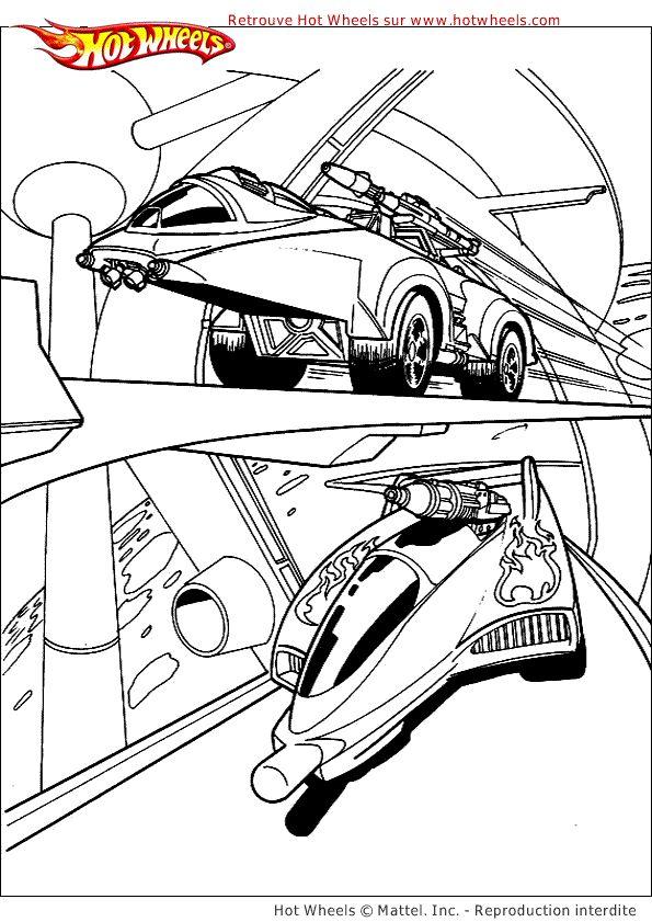 104 best images about coloriages de voitures on pinterest - Dessin hot wheels ...
