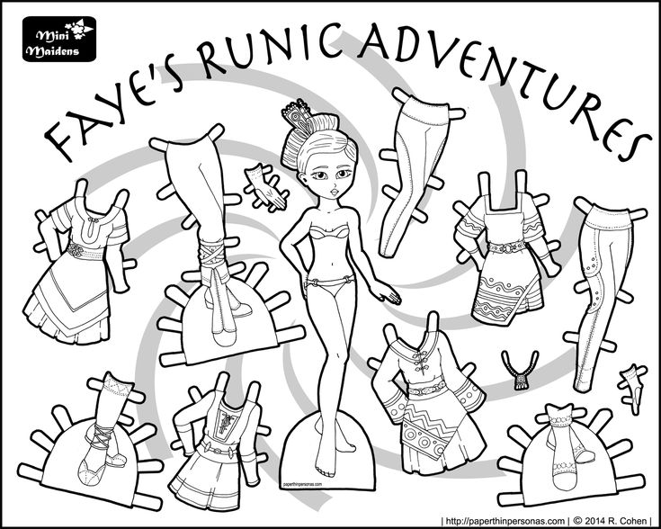 104 best dollhouse, dolls, and doll clothes images on pinterest ... - Paper Doll Clothes Coloring Pages