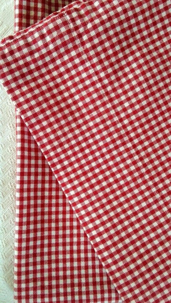 "Pottery Barn Kids Red Gingham Curtain Panels 42"" x 59""  #PotteryBarnKids"