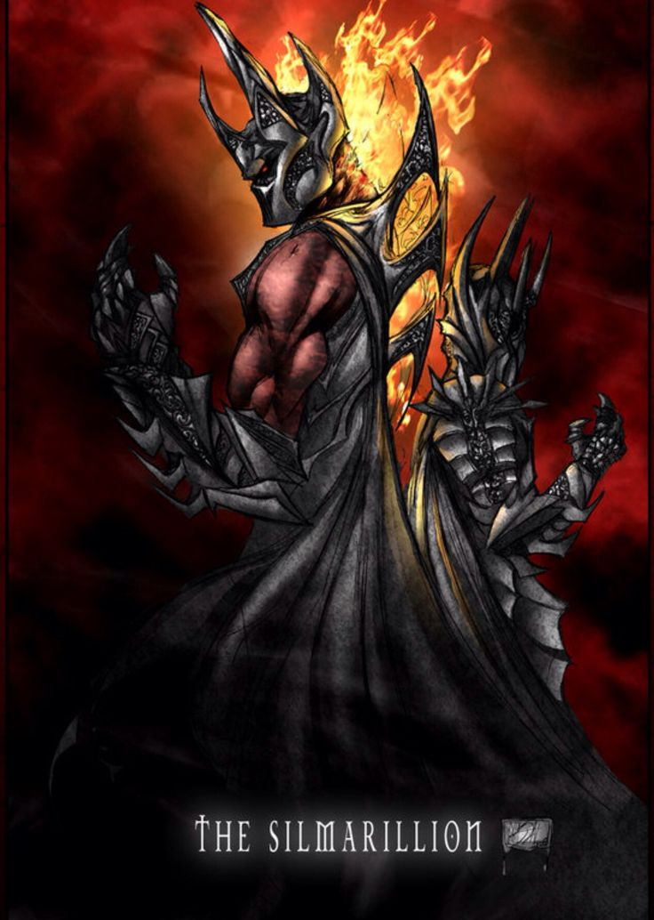 Melkor, the fallen Valar, later known as Morgoth, and his Servant, a former Maiar of Aulë, once known as Gorthaur the cruel, but now known as Sauron