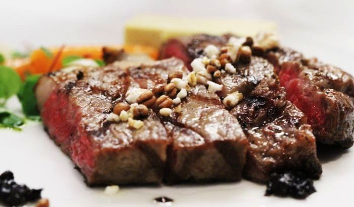 The Wagyu Ribeye is the most expensive steak at $350! #EALUXE	http://bit.ly/1D5RUbK