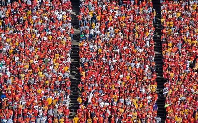 Iowa State football game - Student section