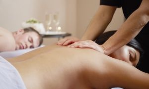Groupon - Massage-and-Facial Package with Champagne for One or Couples at RYSE Wellness Clinic & Spa (Up to 66% Off)  in Atlanta. Groupon deal price: $94