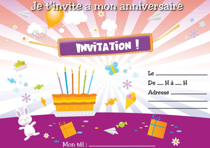Hervorragend 403 best carte invitation anniversaire images on Pinterest | 20  YZ55