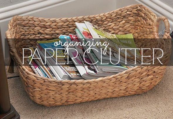 Organizing Paper Clutter! Good stuff!