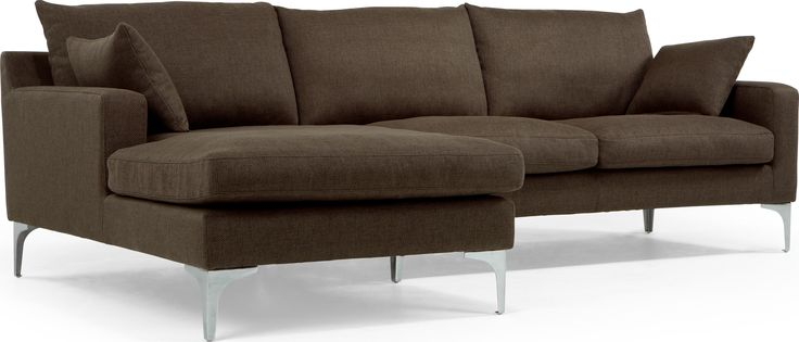 Mendini Left Corner Sofa Group, Chocolate Brown from Made.com. Express delivery. With an irresistibly inviting shape, the contemporary Mendini is th..