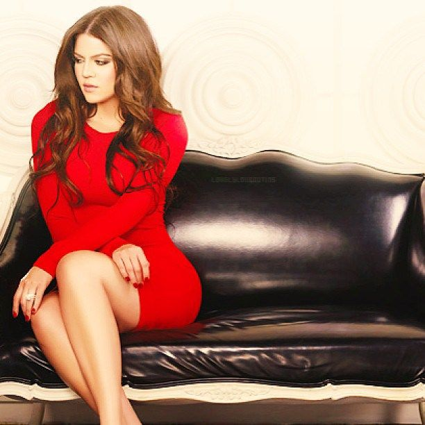 Khloe Is All Red & Sophistication For A Sexy PhotoShoot