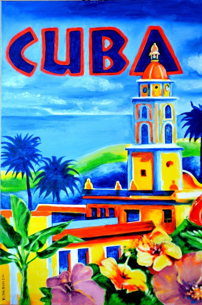 "Artist: Victor Minca Medium: Acrylic on Canvas Framed Dimensions: 24"" x 36"", (60.96 x 91.44 cent.) Title: Trinidad Cuba. Year: 2014 Description:"