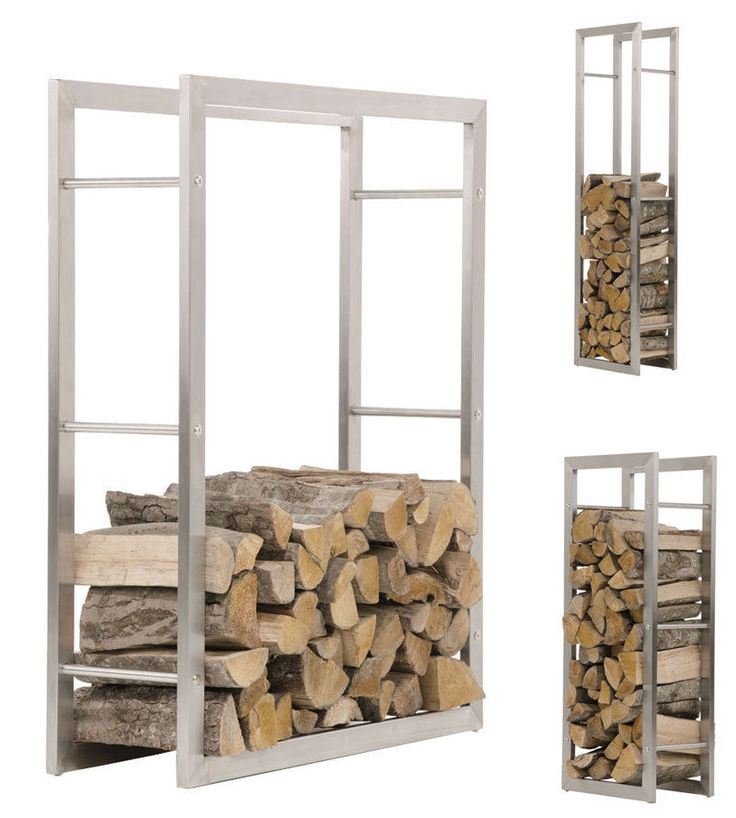 Firewood Rack KERI Stainless Steel Log Basket Stand Holder Fire Wood Storage NEW