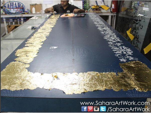 Morning from our studios. Gold leaf gliding in progress.. Stay tuned!