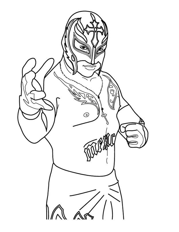 World Wrestling Entertainment Wwe Rey Mysterio Coloring Page Smackdown Wwe Coloring Pages Coloring Pages Wwe