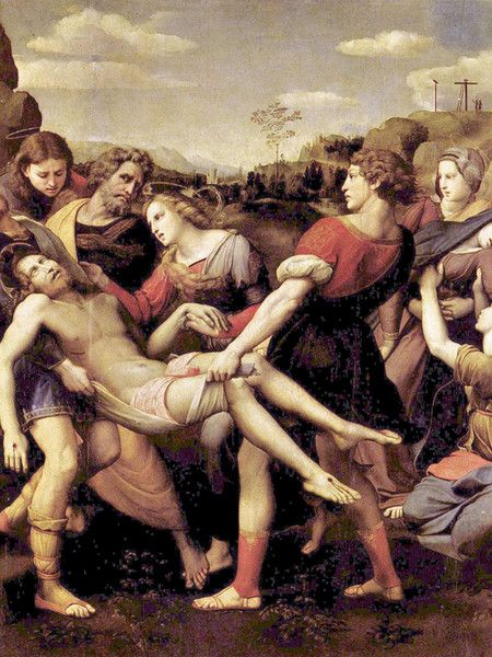 Trasporto di Cristo - Raffaello Sanzio - Galleria Borghese