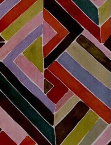 striped abstract geo. luli sanchez