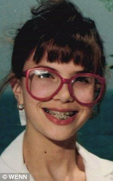 Who's that girl: Elisabeth Hasselbeck looked almost unrecognisable with owl-like glasses, braces and mousy hair?
