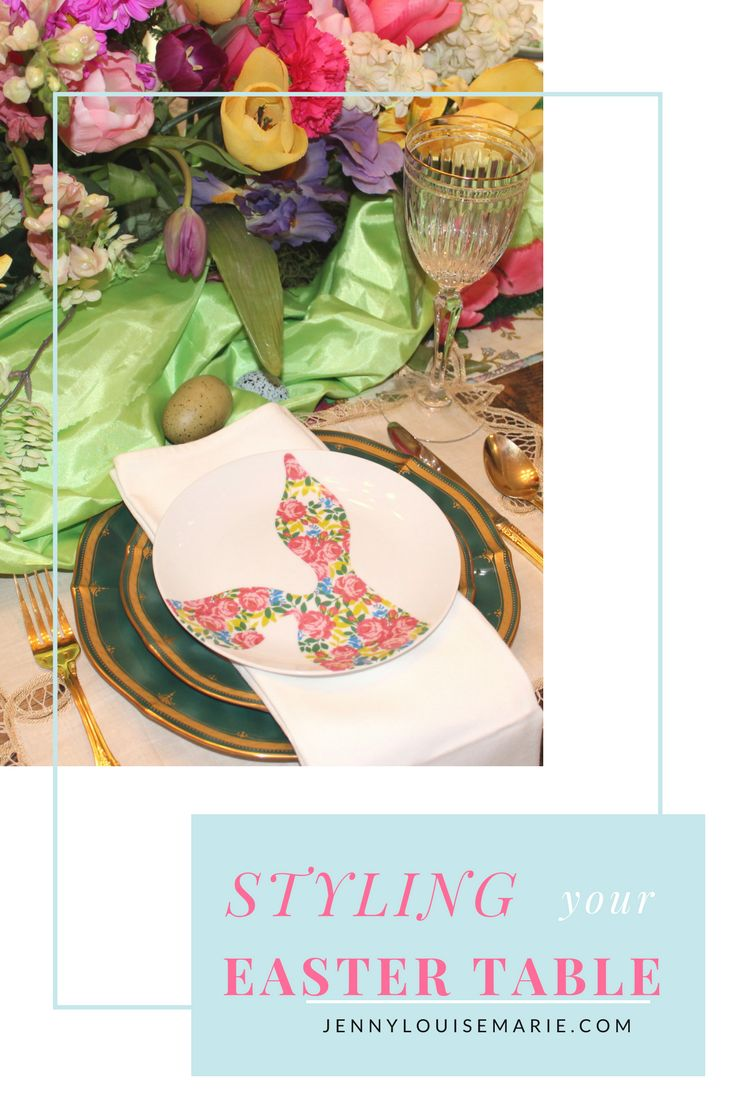 Ideas and inspiration for styling your spring or Easter table.