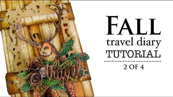 Tutorial: encuadernación rústica paso a paso - Fall diary - Country book...