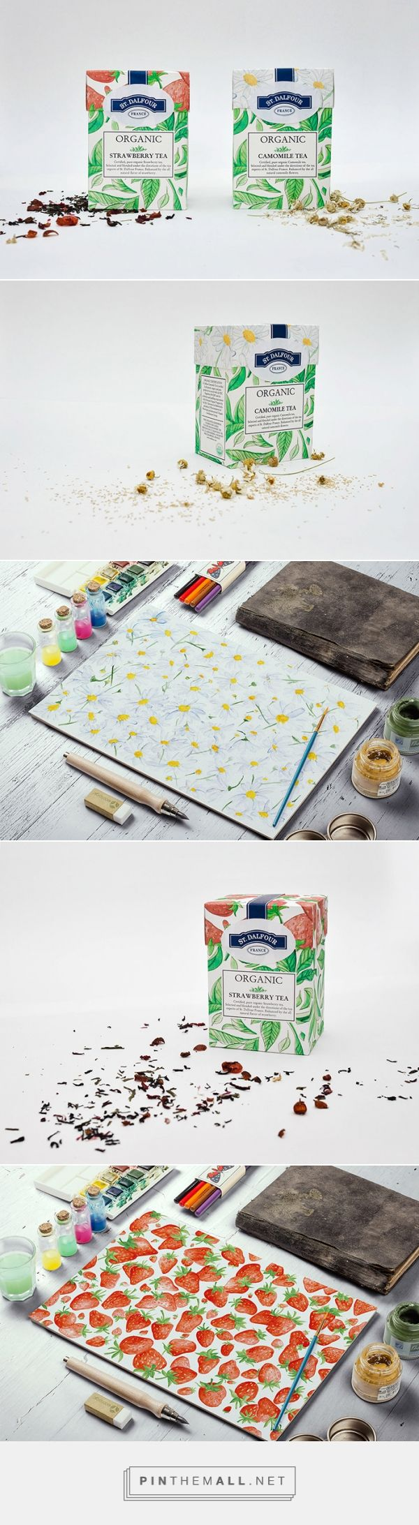 St. Dalfour Tea by Veronika Romanovich. Pin curated by #SFields99 #packaging #design