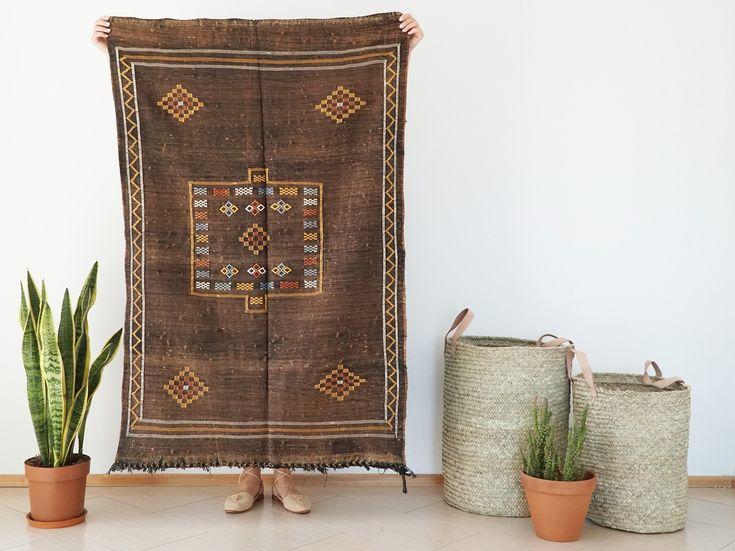 Cactus Silk Rug, Sabra Rug, Moroccan Rug, Vegan Cactus Silk carpet, Ethnic rug, Boho rug, Bohemian rug, Kids room rug, Handwoven rug