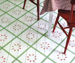 More painted flooring