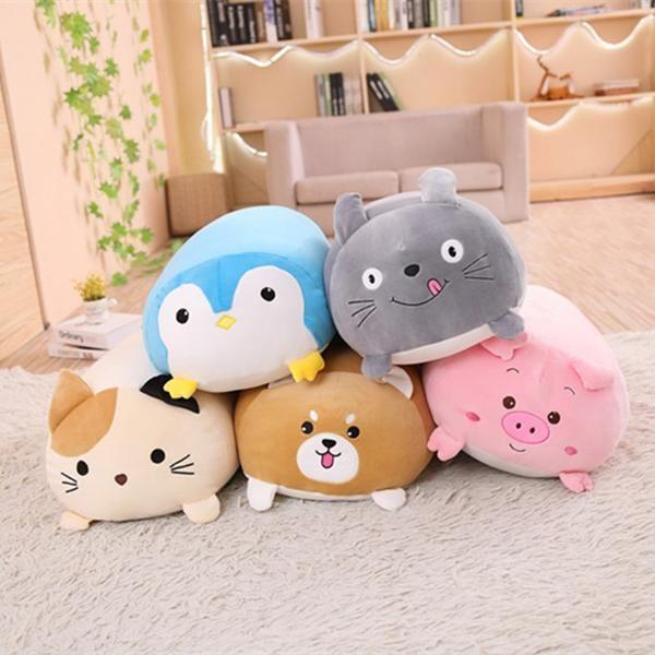 Super Soft Plush Animal Pillows