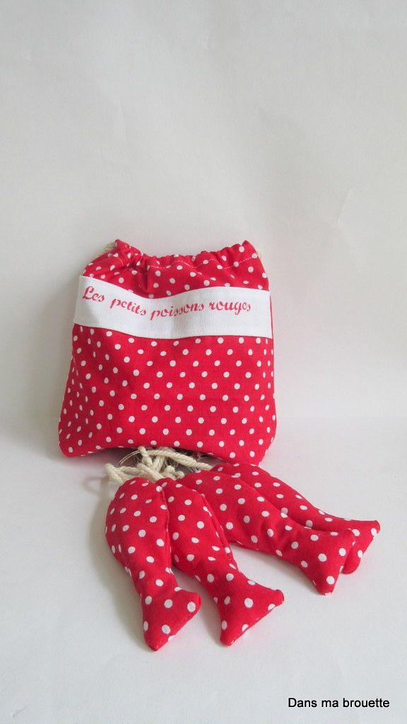 """Poids de nappe """"sardines"""" et leur sac de rangement en tissu : Accessoires de maison par dansmabrouette"""