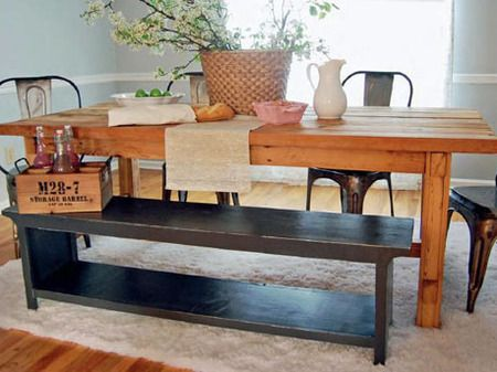 Easy Woodworking Projects — Farmhouse Bench || DIY Furniture Project