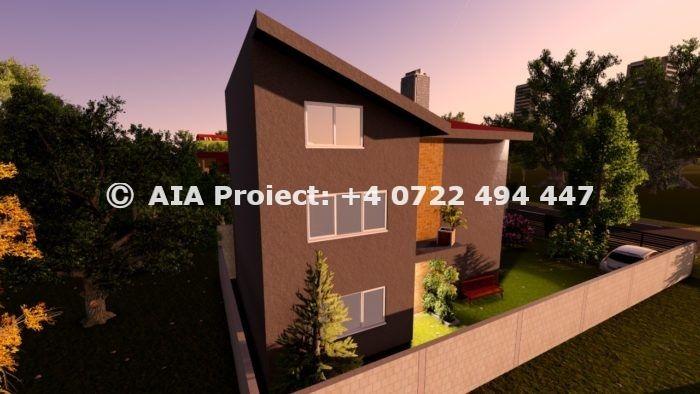 Proiecte case cu etaj si mansarda by AIA Proiect Romania - tel +40722494447