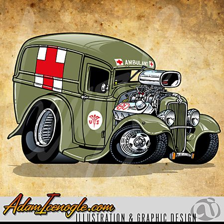 242 Best Images About HOT ROD Cartoons On Pinterest