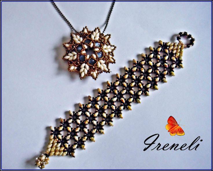 Pulsera O lace bracelet By Akke Jonkhof y colgante Zonnetje de Ella Des