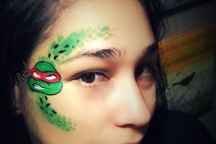 Ninja turtle face paint eye design for those little ones that don't want a full face. :)