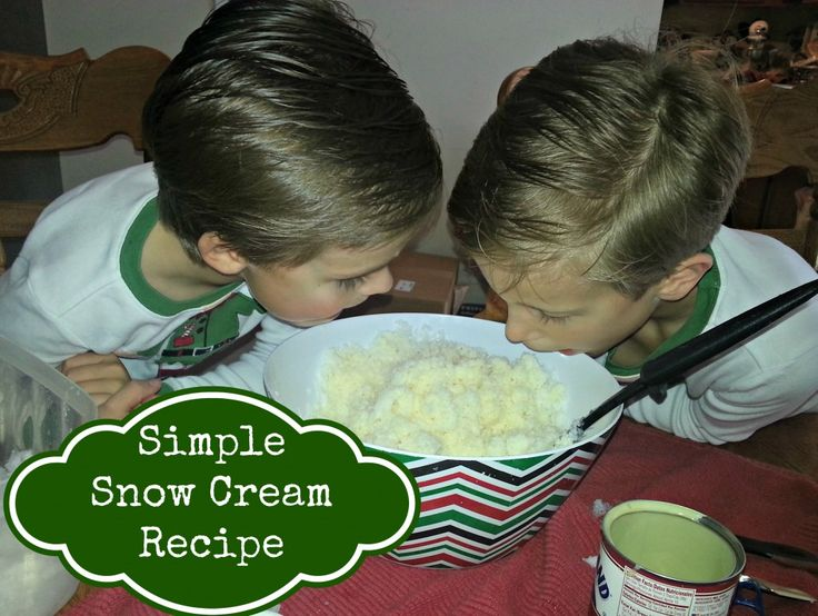 Snow cream is one of our favorite recipes when it snows! It is so easy and fun to make, not to mention delicious!