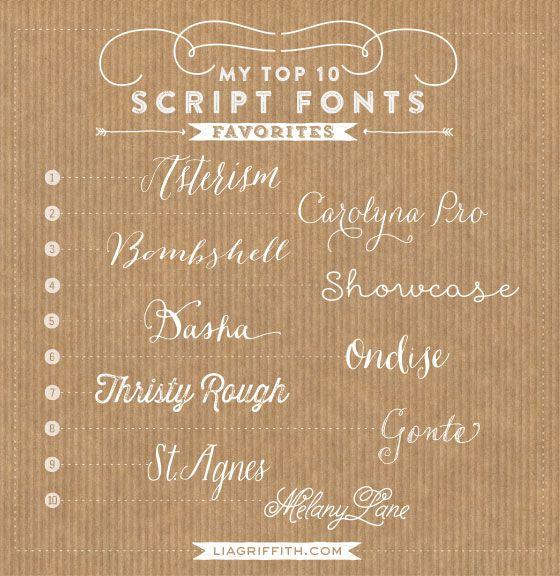 My Top Ten Script Fonts