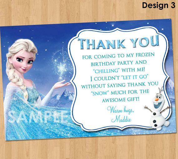 Frozen Thank You Note - Disney Frozen Thank You Card ...