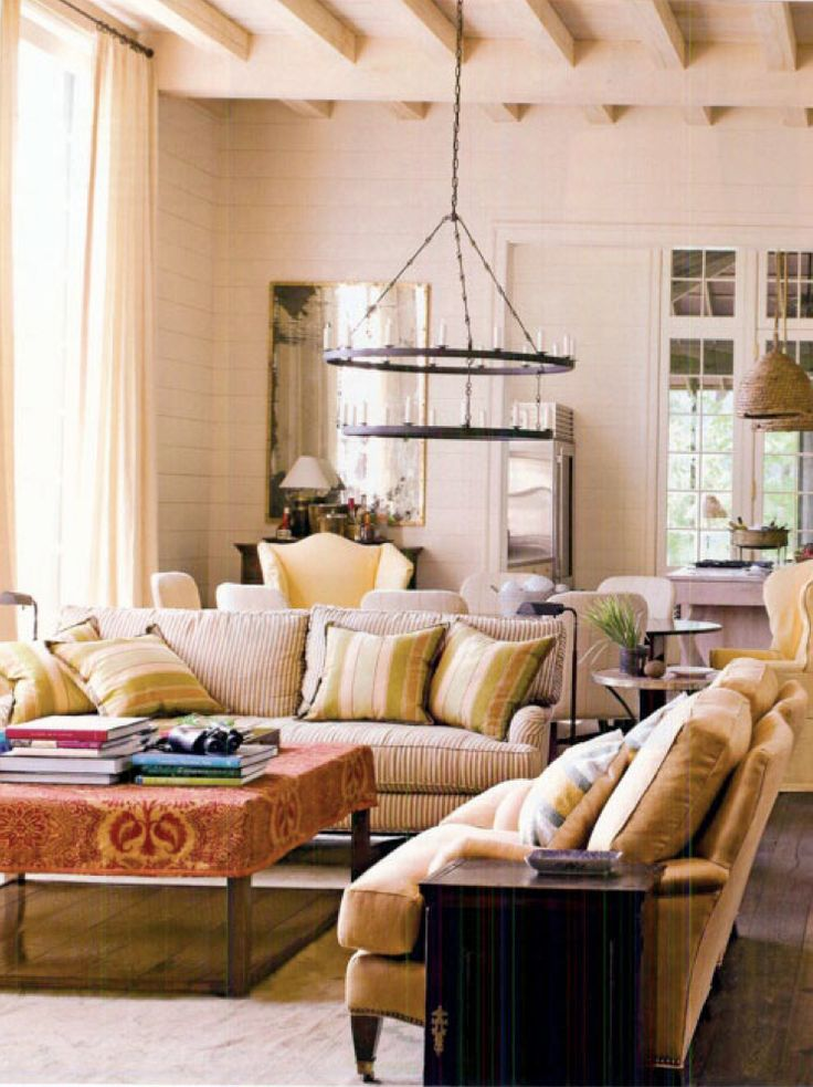 Great fabric on the ottoman: Interior Design, Coffee Table, Bedroom Redesign, Wood, Focal Point, Interiors Living Room, Light Fixture