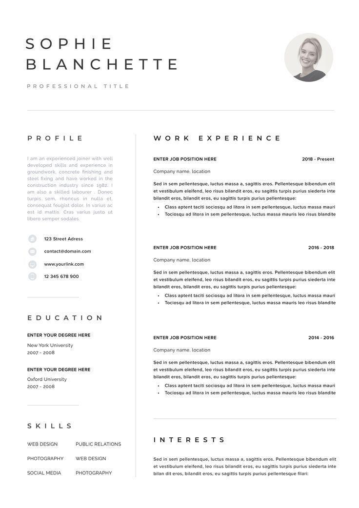 Resume Template Resume Cv Template Cv Design Curriculum Etsy Resume Template Resume Templates Cv Template