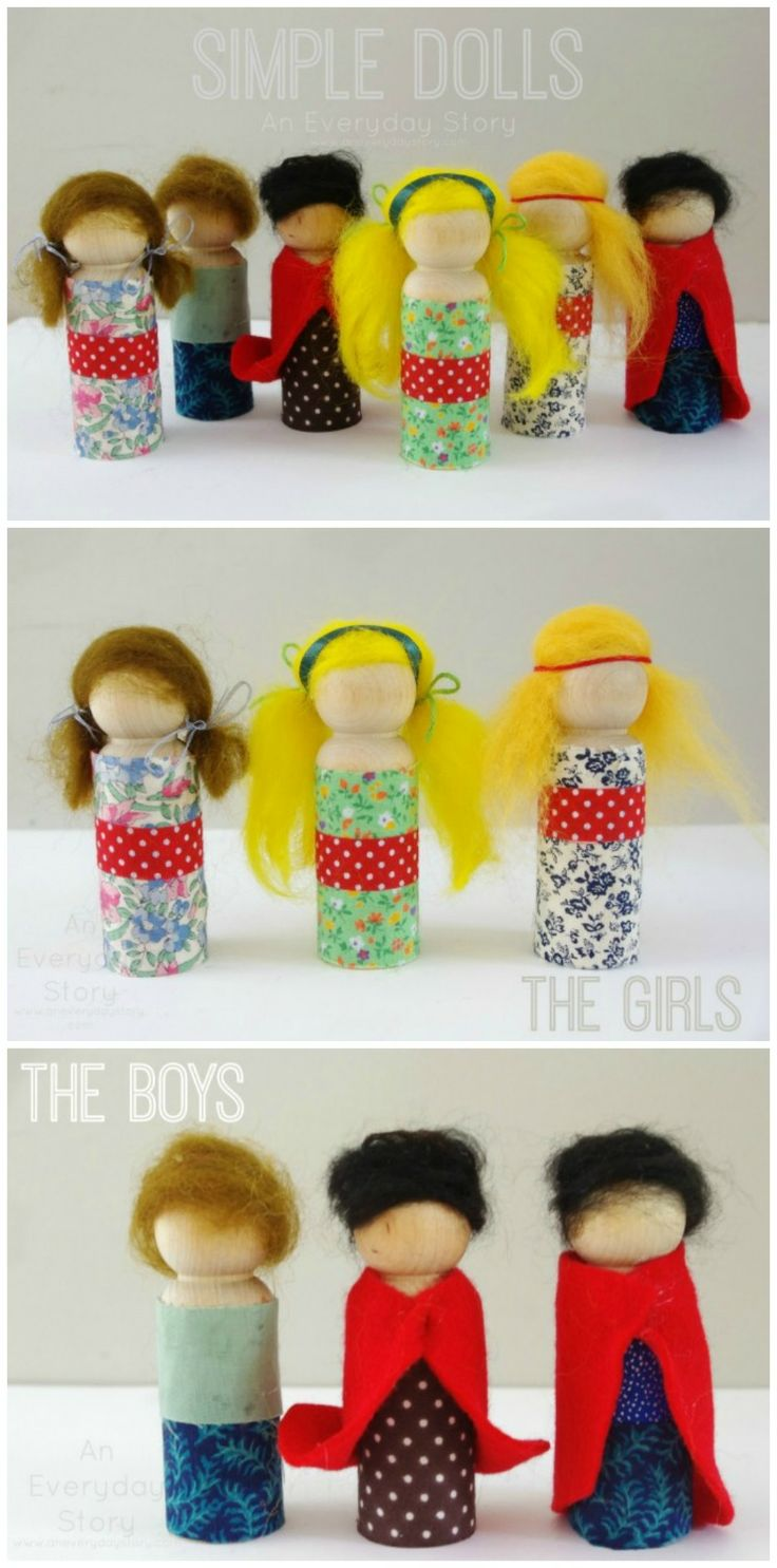 Some simple and lovely peg dolls and thoughts on being more than mum {from An Everyday Story}