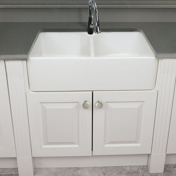 Villa 32 L X 20 W Double Basin Farmhouse Kitchen Sink Farmhouse Sink Kitchen Kitchen Sink Remodel Sink