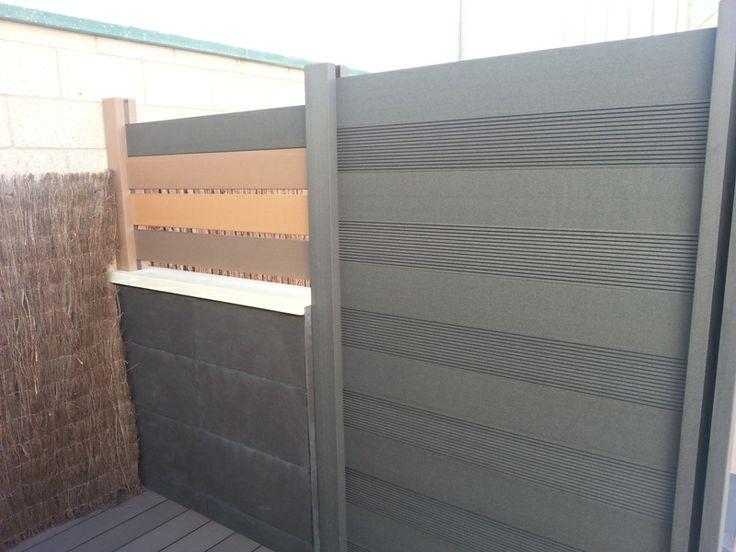 Vallas de madera sintetica con postes especiales y los - Vallas exteriores para casas ...