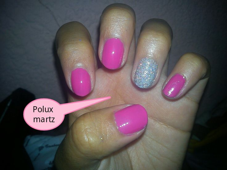 Pink punk nails, holographic nail short nails,  uñas rosas,  uñas holograma,  sensillas polux martz