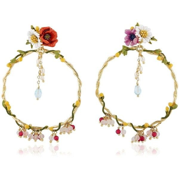 Les Néréides Women Floraisons Sauvages Earrings (€200) ❤ liked on Polyvore featuring jewelry, earrings, multi, les nereides jewelry, nickel free earrings, nickel free jewelry, earrings jewelry and les nereides earrings